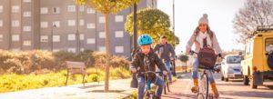 Header - Personal Family Biking Through City